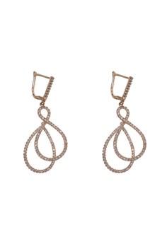 Double Infinity Clip-On Earrings