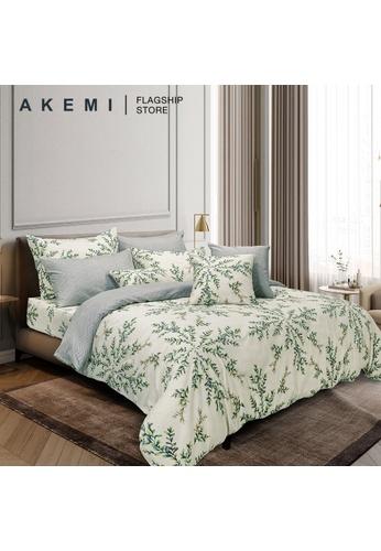 AKEMI green AKEMI Cotton Select Affluence - Krizza (Fitted Sheet Set). F92C0HLA5F14A5GS_1