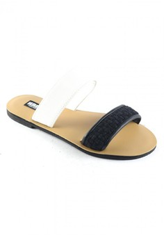 Habi Footwear Luxe Women's Bloom Sandals - Black/White