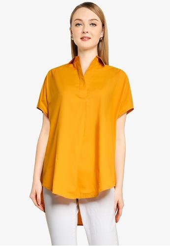 French Connection orange Cele Rhodes Shirt 1FF0CAAC5672A9GS_1