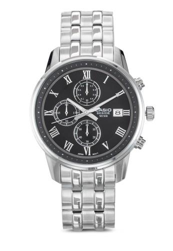 皮esprit台灣門市革錶帶圓框鍊錶, 錶類, 飾品配件