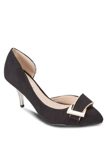 扣環側空高跟鞋, 女鞋, 厚底高esprit 衣服跟鞋