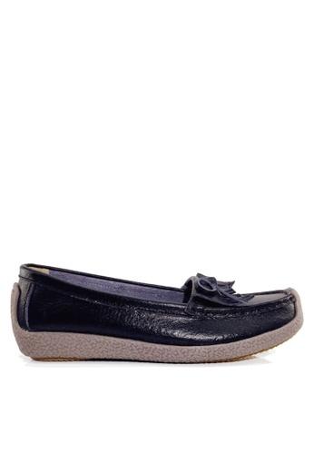 Twenty Eight Shoes 黑色 舒適流蘇真皮休閒鞋 VC1571 D7E91SH05394C9GS_1