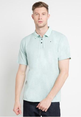 hurley blue and multi Dri-Fit Lagos Polo Shirt B2100AAB7F86EAGS_1