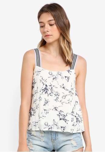 Something Borrowed white Strap Detail Cami Swing Top A0FF3AA74B704FGS_1