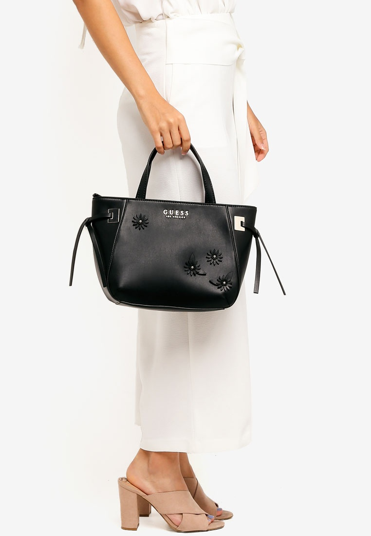 Guess Friday Lizzy Black Satchel Bag Black 8WEnHZ at mozart ... 096d110c88