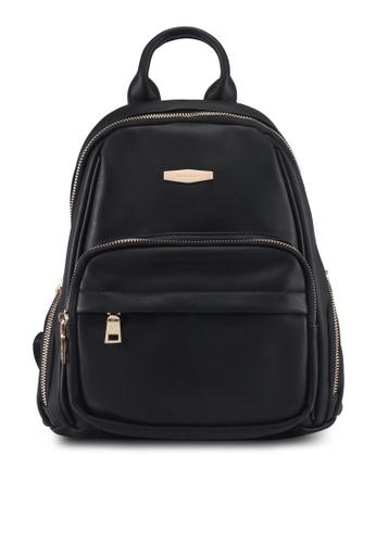 Perllini&Mel black Faux Leather Backpack DD77FAC4F94DD8GS_1