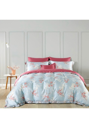 Epitex pink and blue Cressent Dale 1600TC 100% Tencel CE2804 Bedset BD4B0HLF819DC5GS_1