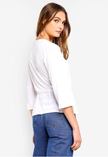 291f99959f910 Buy Cotton On Ruth Peplum Wrap Blouse Online on ZALORA Singapore