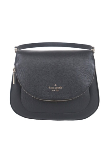Kate Spade black Kate Spade Medium Leila WKR00330 Flap Shoulder Bag In Black F691AACED22967GS_1
