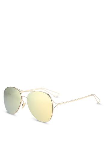 Dandelion gold Metal Aviator Sunglasses D4B88GL9289C12GS_1