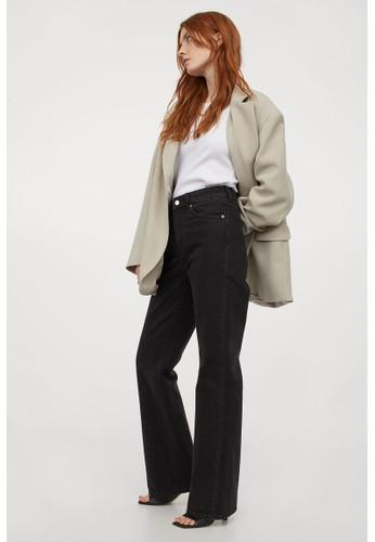 H&M black Bootcut High Jeans CCB83AAB842FADGS_1