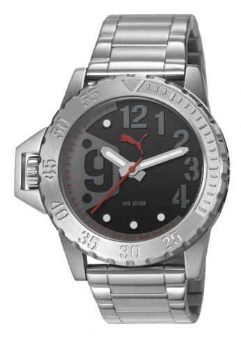 Puma silver PU103761001 NO 9 Metal Silver Black Men Watch PU549AC0RKL4MY_1