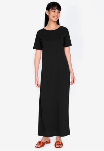 ZALORA BASICS black Open Back Maxi Dress 293F1AA08BEAE9GS_1