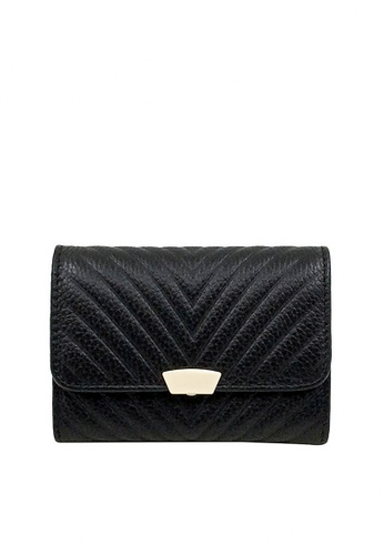Twenty Eight Shoes black VANSA Top Layer Cowhide Bi-Fold Wallet VBW-Wt009S E43F4ACC2D0EC9GS_1