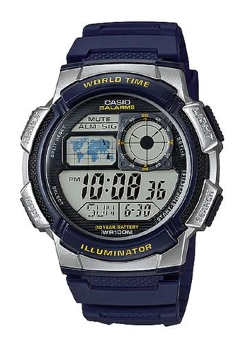 CASIO navy Casio Original Digital Mens Watch Jam Tangan Strap Karet Biru Navy AE1000W AE-1000W-2AVDF 90E8CAC3E48EFBGS_1