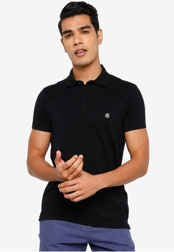 Springfield black Slim Fit Spandex Polo Shirt 2071AAAD65A553GS_1
