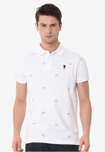 U.S. Polo Assn. white Men's Basic Classic Fit Sport Polo Shirt 7ED98AA449E628GS_1