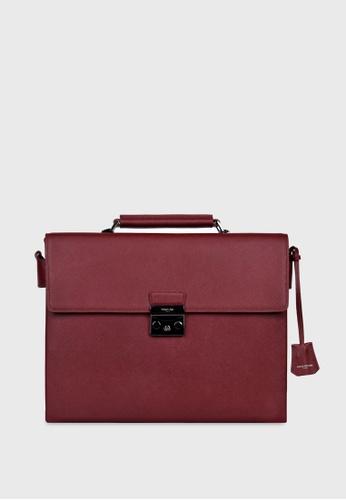 Tocco Toscano red Pomino Uno Briefcase (Maroon) TO281AC35ALSSG_1