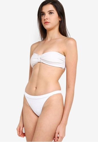 Roxy white Casual Mood Moderate Bikini Bottom 2B672US3A2F1CBGS_1