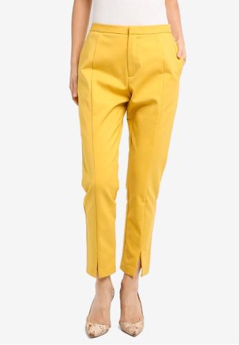 ZALORA yellow Studio Cigarette Pants 79417AAF61D36DGS_1