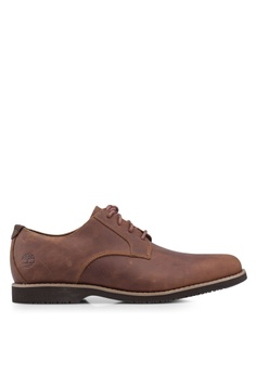 7f07d7112ae5 Timberland brown Woodhull Leather Oxford Shoes D5D0BSH75292F4GS 1