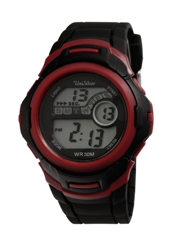 UniSilver TIME black and red Nucleon Men's   Digital Rubber Strap Watch KW2208-1007 UN802AC33OGKPH_1