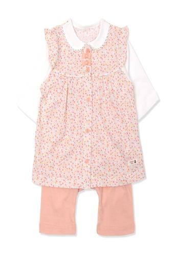 Organic mom orange Organic Cotton Amber Floral  3/4Length Sleeves PJS 10C91KAD92F59DGS_1