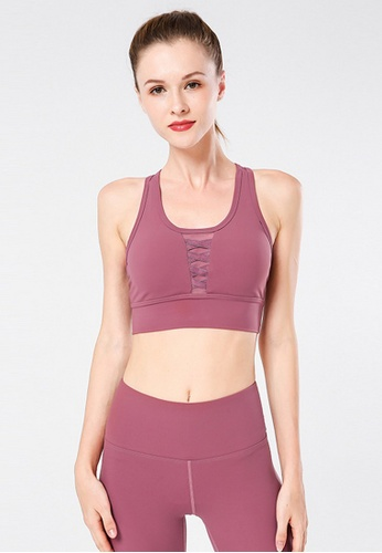 B-Code red ZYG3025-Lady Quick Drying Running Fitness Yoga Sports Bra -Red ADCB4USD214AAEGS_1