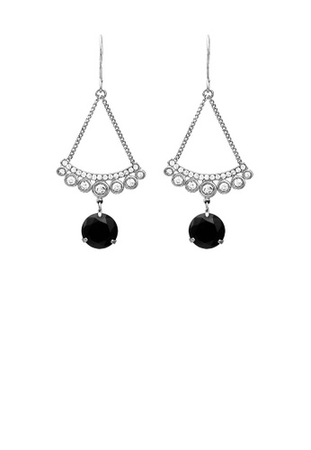 Glamorousky black Sparkling Earrings with Silver and Black Austrian Element Crystals C5F8FACBD946CDGS_1