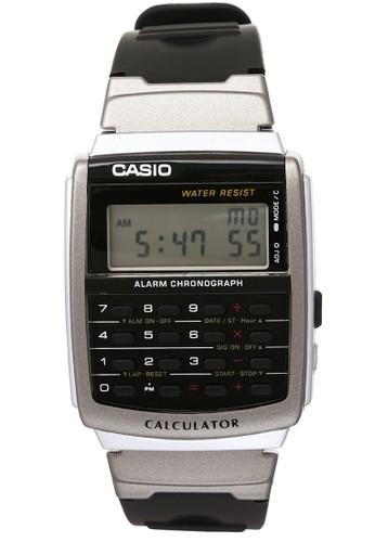 Casio black Casio Jam Tangan - Silver Black - Resin - CA-56-1DF DBFD6ACD4AAF9DGS_1