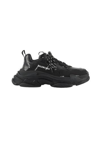 Balenciaga Allover Logo Triple S Men's Sneakers in BlackWhite