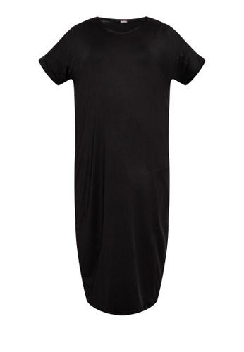Amelia black Plus Size Madelle Loose Dress 8C378AA1DBD5A4GS_1