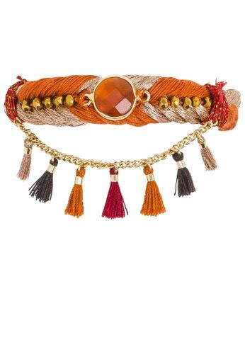 HIPANEMA brown and multi Wooven bracelet Tasmania Chili C8AAFACA9667F1GS_1