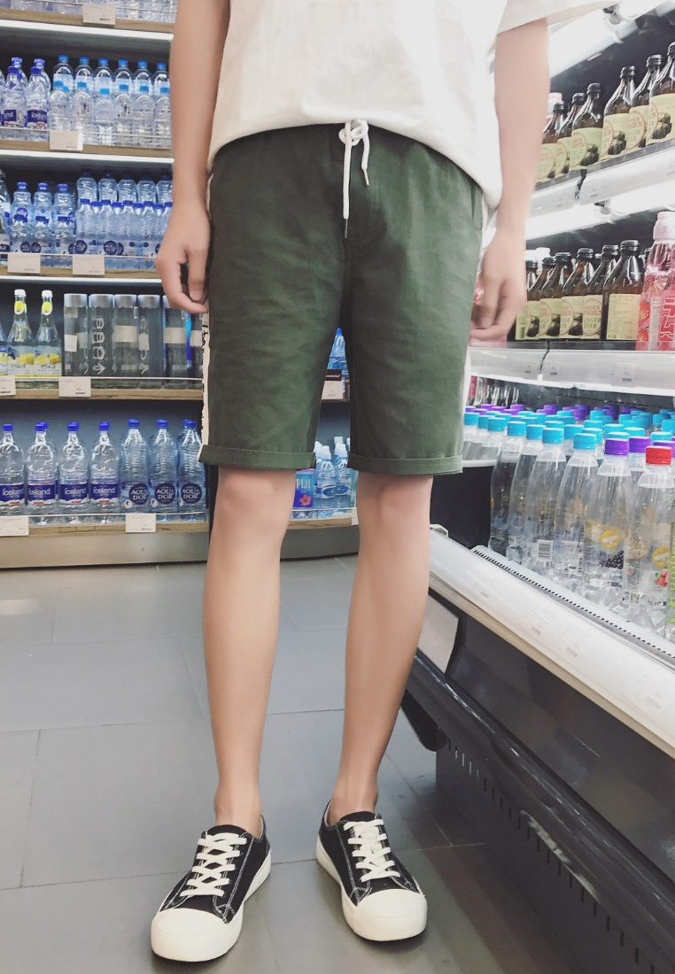 Embroidery green Men hk Shorts ehunter Aqq4wfd