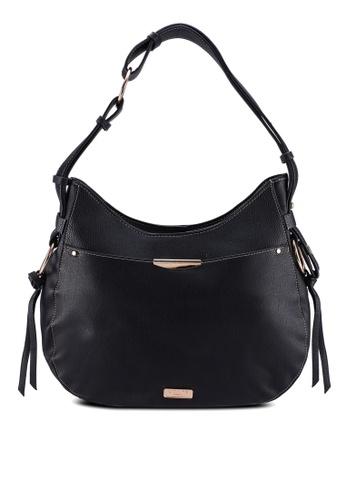 Unisa red Duo Texture Adjustable Strap Shoulder Bag FE3E6AC715452FGS_1
