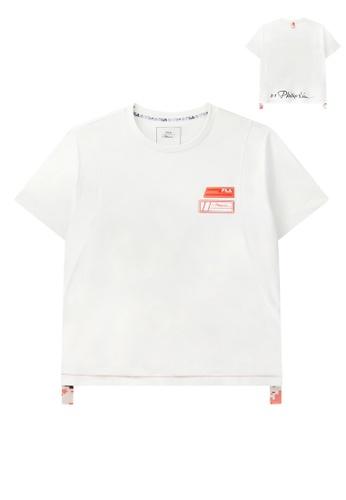 FILA white FILA x 3.1 Phillip Lim Women's Camo Side Tape Logo T-shirt A4261AAAF59F4FGS_1
