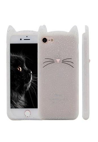 Fancy Cellphone Cases white Cat Rubber Case for iPhone 6plus/6splus FA644AC91HUIPH_1