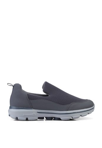 UniqTee 灰色 Lightweight Slip-On Sport Sneakers 8938ASH6E5961FGS_1