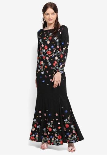 Zalia black Embroidered Lace Mermaid Dress CA3E5AA9559105GS_1