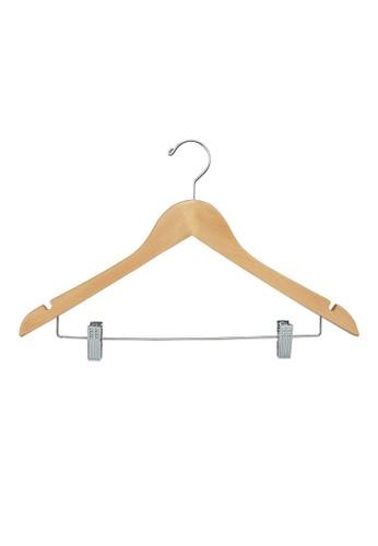 MakeRoom brown Set Of 3 Woden Hangers FAA2AHL1FD7486GS_1