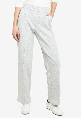 JACQUELINE DE YONG grey Line Pintuck Sweat Pants 70BF7AA1CFDBA1GS_1