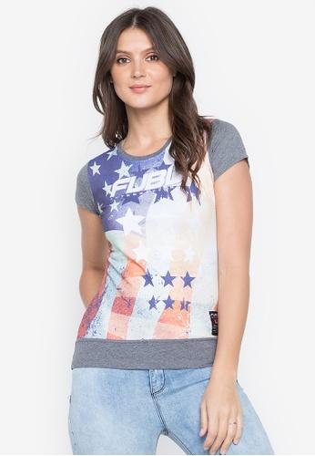 Fubu Queens grey Brand T-Shirt 5E4BFAA5AEA852GS_1