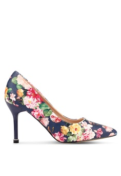 8c69553bdfdb4 Nose navy Floral High Heel Pumps A133BSH4BDAA4DGS 1