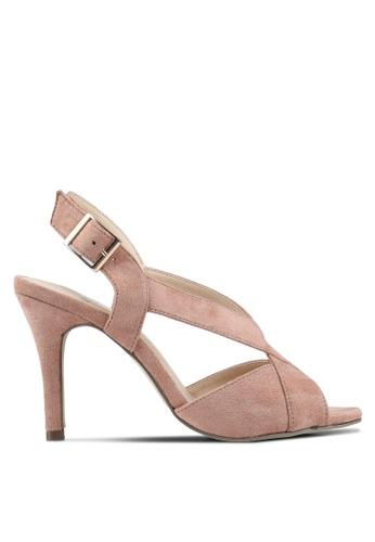 Carlton London beige Cross Strap Heels 44E14SH87B4E43GS_1