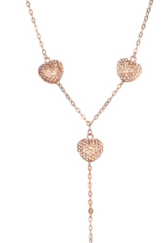 Prince Jewellery And Watch red and gold 18K Rose Gold Heart Chain D20B9AC3888C64GS_1