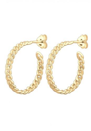 Elli Germany gold Perhiasan Wanita Perak Asli - Silver Anting Braided Creol Lapis Emas 6306CAC2F45D2FGS_1