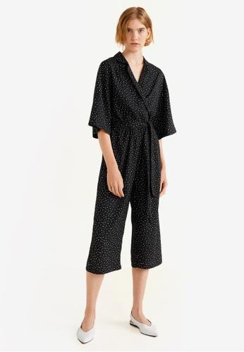 Mango black Polka-Dot Long Jumpsuit 09185AA0A33D38GS_1