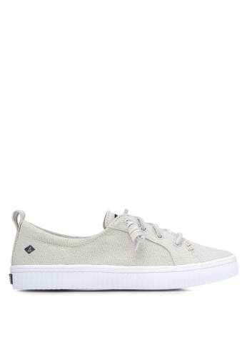Sperry grey Crest Vibe Creeper Linen Sneakers SP132SH0RJG4MY_1