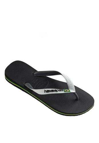 Havaianas black Brasil Mix Flip Flops FD8D8SH80687F9GS_1
